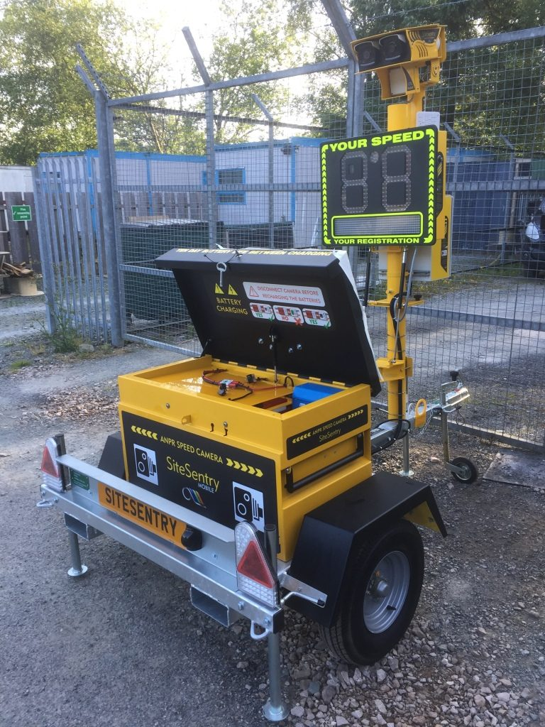 Site Sentry ANPR Speed Camera Trailer